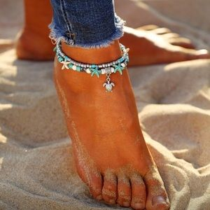 Boho Sea Turtle Ankle Bracelet